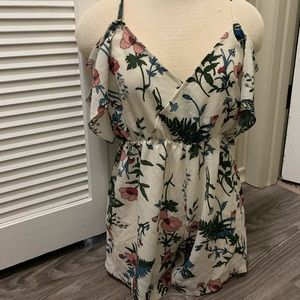FLORAL ROMPER - great shape